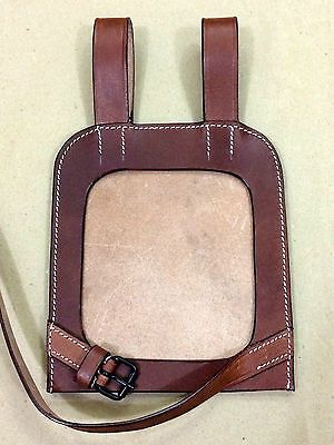 German WWII Dark Brown Leather Shovel Cover (Closed Back)