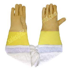 Beekeeping Gloves in Cowhide Leather / Bee Keepers Protective Gloves / Bee Keeping Gloves