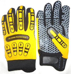 Impact Protective Mechanic Gloves for Oil and Gas Industries, Non-Slip Gloves / Gloves for Oil Field
