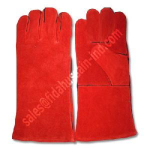 Working Gloves/Welding Gloves/ Cowhide Split Leather Red Welding Gloves/Tig Welding Gloves