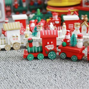 christmas popular wooden train decor