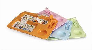 Plastic Kids Plate Set