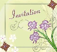 Royal Green Invitation Card