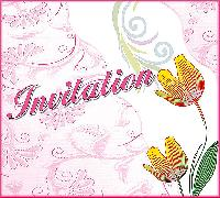 Royal Rose Invitation Card