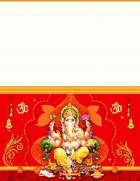 Sivanjali Vinayagar Wedding Card