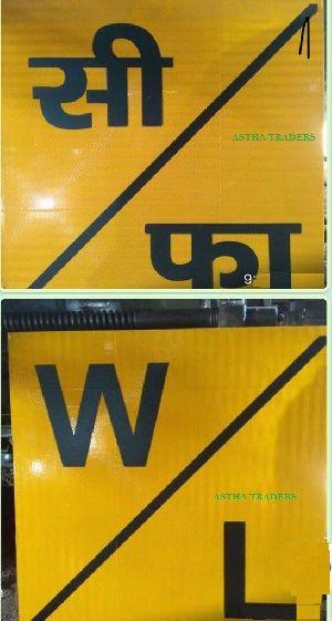 Retro Reflective Railway Sign Boards
