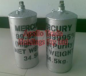99.999%  Silver Liquid Mercury