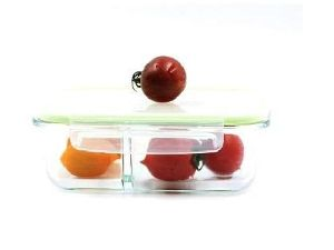 Double Spacer Rectangular Glass Containers
