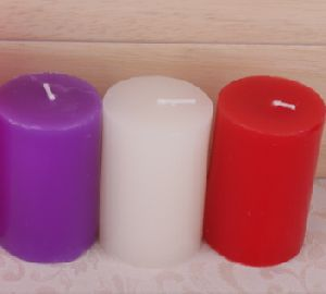 perfumed colored candle