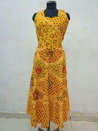 Jaipuri Designer Cotton Womens Long Dress