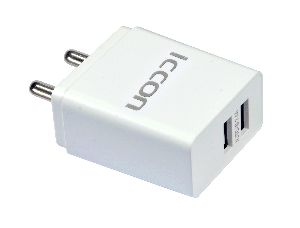 Mobile Charger 2.4a White (with I'phone Cable)