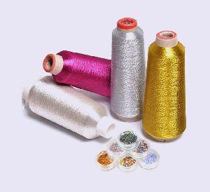 Metallic Yarn And Glitter Powder
