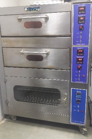 Double Deck Oven With Provin Cabinet