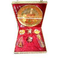 Brass Polished Pooja Thali