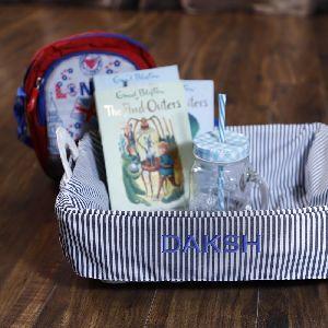 Stripes Basket Baby Boy