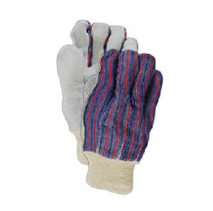 Cow Split Leather Palm Gloves With Knit Wrist