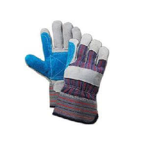 Double-palm Split Leather Palm Gloves