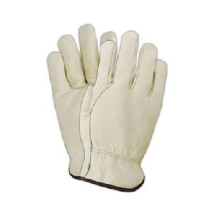 Unlined Grain Cowhide Leather Drivers Gloves
