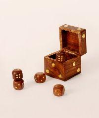 Wooden Dice Box