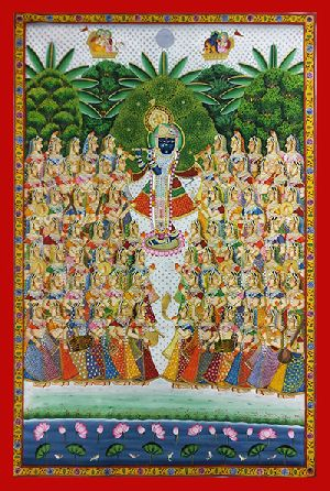 Krishna Gopis Pichwai Painting Services