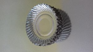 """7"""" Snacks Silver Paper Plate"""