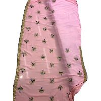 Ladies Pink Embroidered Sarees