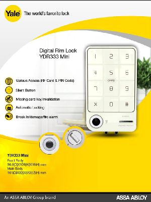 Yale Ydr 333 Digital Door Lock