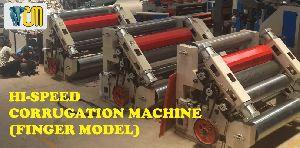 Hi-speed Finger Corrugation Machine