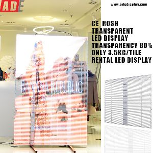 high tranparency transparent led display