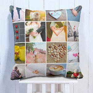 Personalised Awesome Moments 16 Photo Cushion
