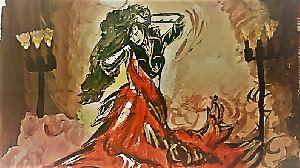 Dancing Aficionadoin Red