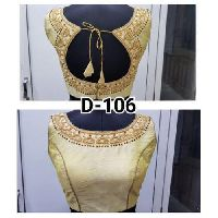 Golden Embroidered Fashion Blouse