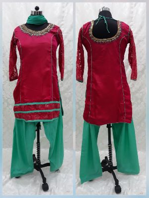 Hand Embroidered Patiyala Salwar Suit