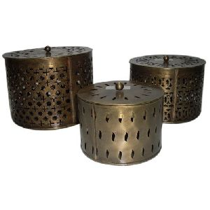 Jali Cut Work Round Box