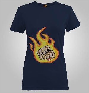 Ladies Printed T Shirts (pyar Fire Punch)