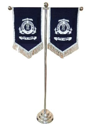T-pole Stand With Flags