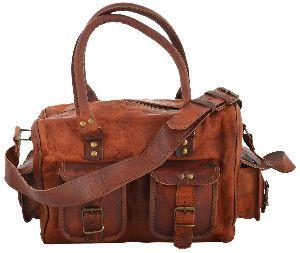 LB002MB Leather Travel Bag