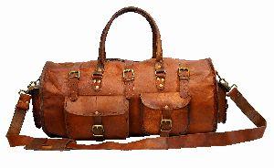 LB021MB Leather Travel Bag