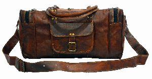 LB022MB Leather Travel Bag