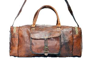 LB024MB Leather Travel Bag