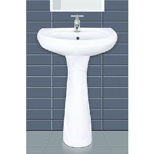 Ceramic Pedestal Plain Wash Basin