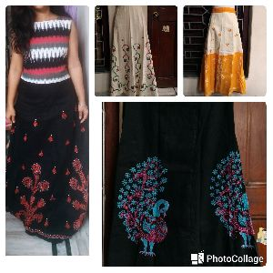 Hand Embroidered Wraparound Skirts