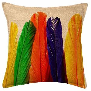 Feather Print Cushion Covers