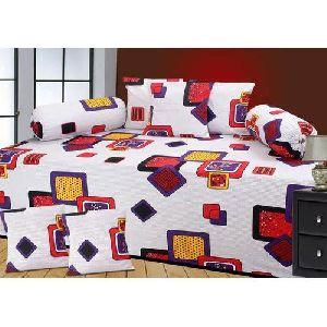 Box Print Diwan Bed Sheet Set