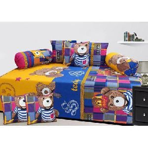 91689d9aa Teddy Print Diwan Bed Sheet Set