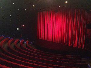 Auditorium stage curtain