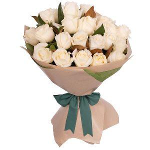 Elite White Rose Bouquet