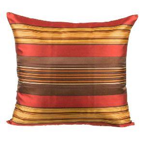Silk Woven Stripe Cushion Cover