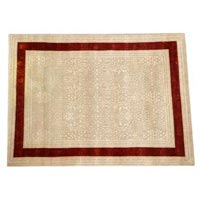 Hand Knotted Wool & Silk Carpet -02