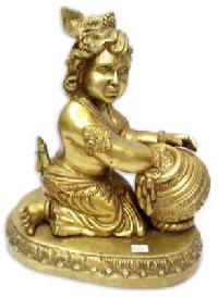 Brass Makhanchor Krishna